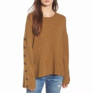 Madewell Button Sleeve Sweater